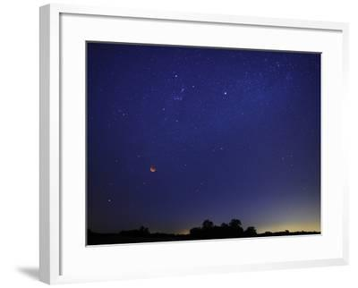 A Wide Field Composite Showing the Moon Against the Stars-Stocktrek Images-Framed Photographic Print