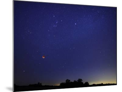 A Wide Field Composite Showing the Moon Against the Stars-Stocktrek Images-Mounted Photographic Print