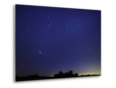 A Wide Field Composite Showing the Moon Against the Stars-Stocktrek Images-Metal Print
