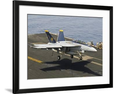 An F/A-18E Super Hornet Trap Landing on the Flight Deck of USS Harry S. Truman-Stocktrek Images-Framed Photographic Print