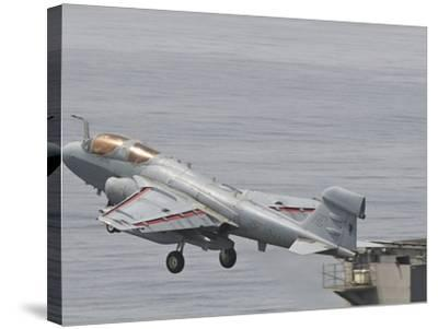 An EA-6B Prowler Lifts Off from the Flight Deck of USS Harry S. Truman-Stocktrek Images-Stretched Canvas Print