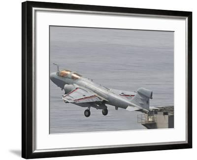 An EA-6B Prowler Lifts Off from the Flight Deck of USS Harry S. Truman-Stocktrek Images-Framed Photographic Print