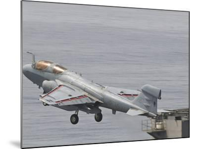 An EA-6B Prowler Lifts Off from the Flight Deck of USS Harry S. Truman-Stocktrek Images-Mounted Photographic Print
