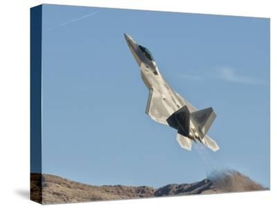 A U.S. Air Force F-22 Raptor Takes Off from Nellis Air Force Base, Nevada-Stocktrek Images-Stretched Canvas Print