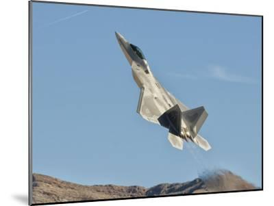 A U.S. Air Force F-22 Raptor Takes Off from Nellis Air Force Base, Nevada-Stocktrek Images-Mounted Photographic Print