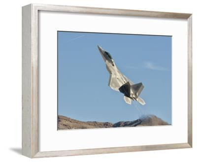 A U.S. Air Force F-22 Raptor Takes Off from Nellis Air Force Base, Nevada-Stocktrek Images-Framed Photographic Print