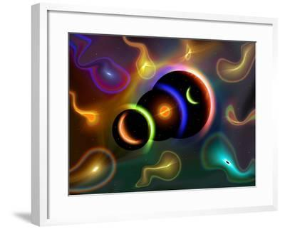 Artist's Concept of Cosmic Portals to Another Universe-Stocktrek Images-Framed Photographic Print