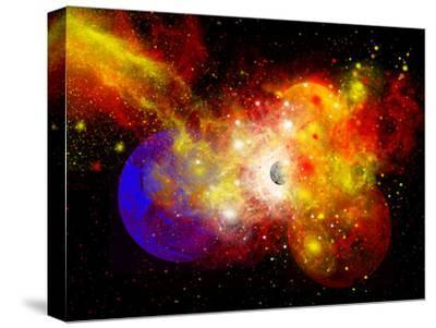 A Dying Star Turns Nova as it Blows Itself Apart-Stocktrek Images-Stretched Canvas Print