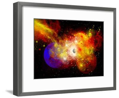A Dying Star Turns Nova as it Blows Itself Apart-Stocktrek Images-Framed Photographic Print