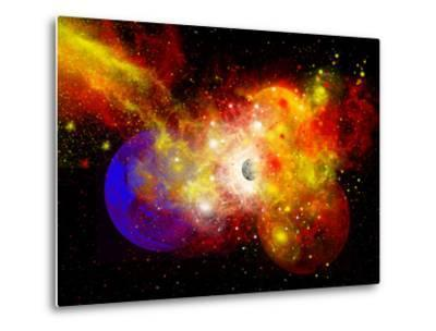 A Dying Star Turns Nova as it Blows Itself Apart-Stocktrek Images-Metal Print