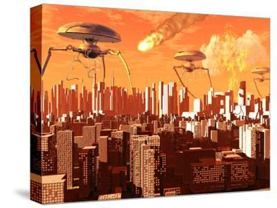 War of the Worlds-Stocktrek Images-Stretched Canvas Print