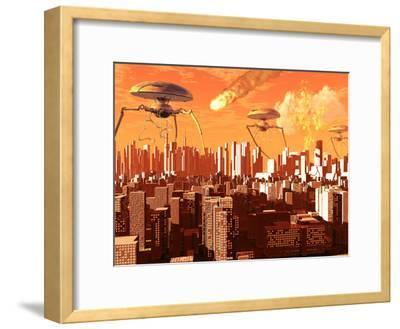 War of the Worlds-Stocktrek Images-Framed Photographic Print
