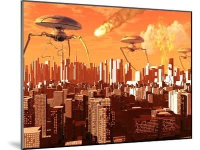 War of the Worlds-Stocktrek Images-Mounted Photographic Print