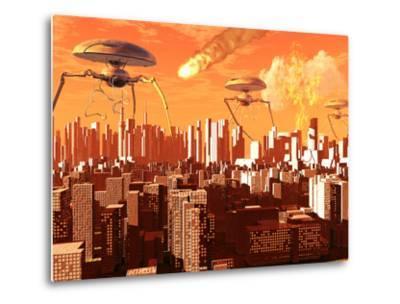 War of the Worlds-Stocktrek Images-Metal Print
