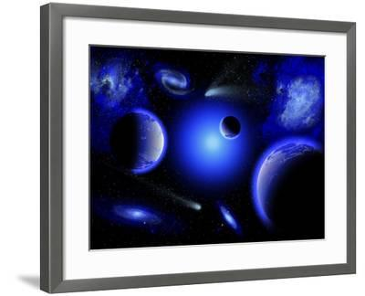 Blue Stars are Amongst the Youngest of the Stars in the Universe-Stocktrek Images-Framed Photographic Print