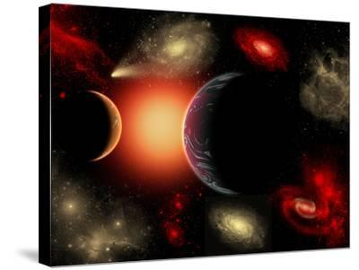 Artist's Concept of the Cosmic Wonders of the Universe-Stocktrek Images-Stretched Canvas Print