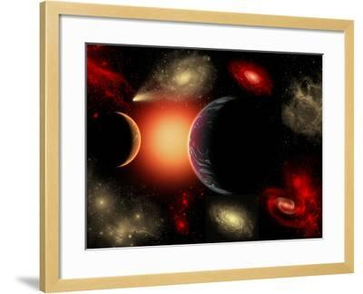 Artist's Concept of the Cosmic Wonders of the Universe-Stocktrek Images-Framed Photographic Print
