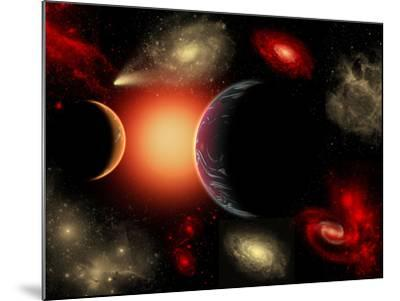 Artist's Concept of the Cosmic Wonders of the Universe-Stocktrek Images-Mounted Photographic Print