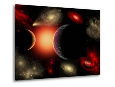 Artist's Concept of the Cosmic Wonders of the Universe-Stocktrek Images-Metal Print