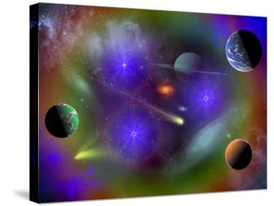 Conceptual Image of a Scene in Outer Space-Stocktrek Images-Stretched Canvas Print