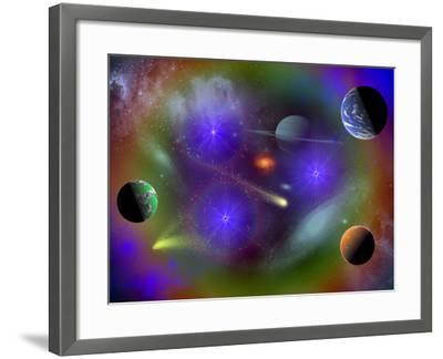 Conceptual Image of a Scene in Outer Space-Stocktrek Images-Framed Photographic Print