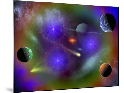 Conceptual Image of a Scene in Outer Space-Stocktrek Images-Mounted Photographic Print