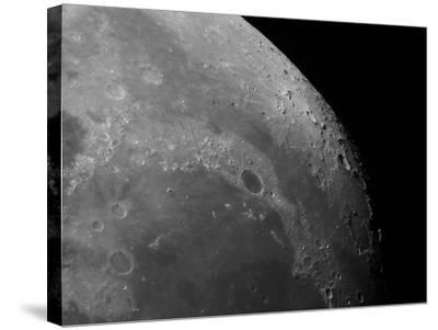 Close-Up View of the Moon Showing Impact Crater Plato-Stocktrek Images-Stretched Canvas Print