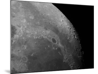 Close-Up View of the Moon Showing Impact Crater Plato-Stocktrek Images-Mounted Photographic Print