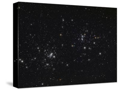 The Double Cluster in the Constellation Perseus-Stocktrek Images-Stretched Canvas Print