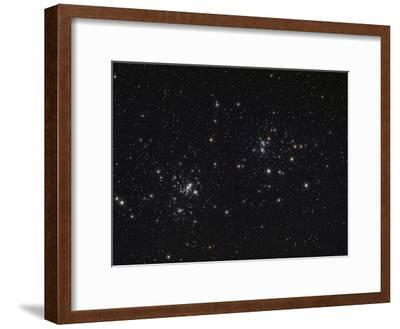 The Double Cluster in the Constellation Perseus-Stocktrek Images-Framed Photographic Print