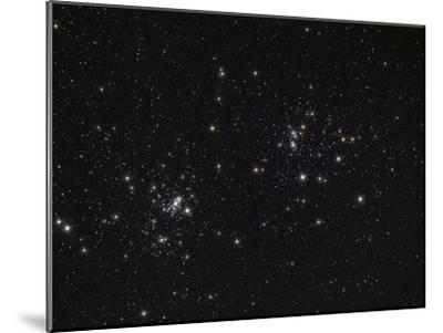 The Double Cluster in the Constellation Perseus-Stocktrek Images-Mounted Photographic Print