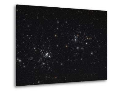 The Double Cluster in the Constellation Perseus-Stocktrek Images-Metal Print