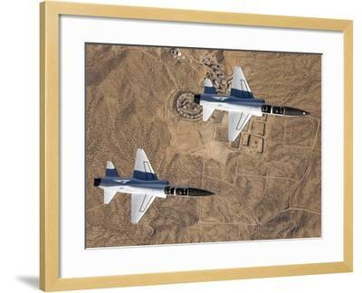 Two T-38A Mission Support Aircraft Fly in Tight Formation-Stocktrek Images-Framed Photographic Print