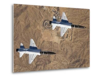 Two T-38A Mission Support Aircraft Fly in Tight Formation-Stocktrek Images-Metal Print