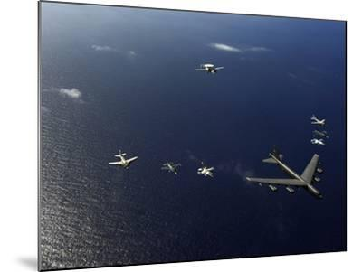 A U.S. Air Force B-52 Stratofortress Aircraft Leads a Formation of Aircraft-Stocktrek Images-Mounted Photographic Print