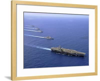 Military Ships Operate in Formation in the South China Sea-Stocktrek Images-Framed Photographic Print
