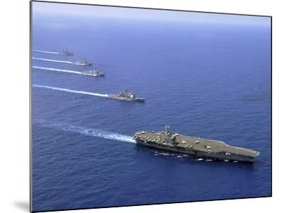 Military Ships Operate in Formation in the South China Sea-Stocktrek Images-Mounted Photographic Print
