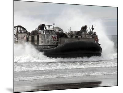 U.S. Navy Landing Craft Air Cushion Makes a Beach Landing-Stocktrek Images-Mounted Photographic Print