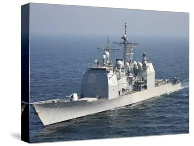 The Ticonderoga-Class Guided-Missile Cruiser USS Shiloh-Stocktrek Images-Stretched Canvas Print