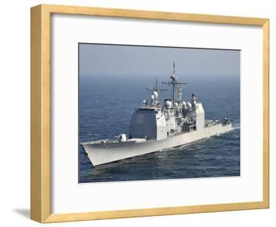 The Ticonderoga-Class Guided-Missile Cruiser USS Shiloh-Stocktrek Images-Framed Photographic Print