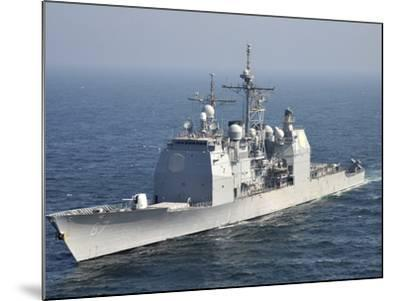 The Ticonderoga-Class Guided-Missile Cruiser USS Shiloh-Stocktrek Images-Mounted Photographic Print