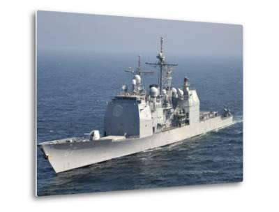 The Ticonderoga-Class Guided-Missile Cruiser USS Shiloh-Stocktrek Images-Metal Print
