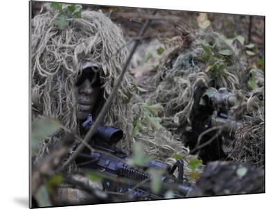 A Sniper Team Spotter and Shooter-Stocktrek Images-Mounted Photographic Print