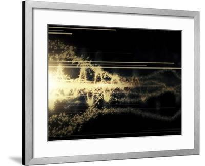 Burst of Energy Forms into Powerful Beam of Light-Stocktrek Images-Framed Photographic Print