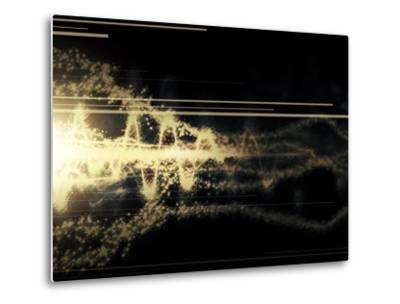 Burst of Energy Forms into Powerful Beam of Light-Stocktrek Images-Metal Print