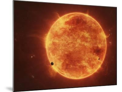 A Massive Red Dwarf Consuming Planets Within it's Range-Stocktrek Images-Mounted Photographic Print