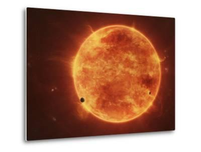 A Massive Red Dwarf Consuming Planets Within it's Range-Stocktrek Images-Metal Print