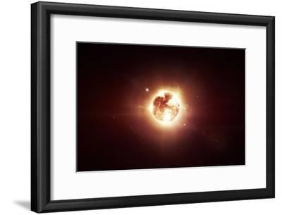 A Dying Star Which Will Soon Give New Beginning to a Black Hole-Stocktrek Images-Framed Photographic Print