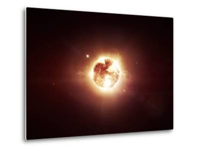 A Dying Star Which Will Soon Give New Beginning to a Black Hole-Stocktrek Images-Metal Print