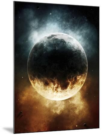 A Rare Planet Surrounded by a Cloud of Plasmatic Nitrogen and Flames-Stocktrek Images-Mounted Photographic Print